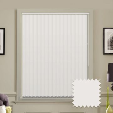 Vertical blinds made to measure  in Optimum Snow White plain fabric